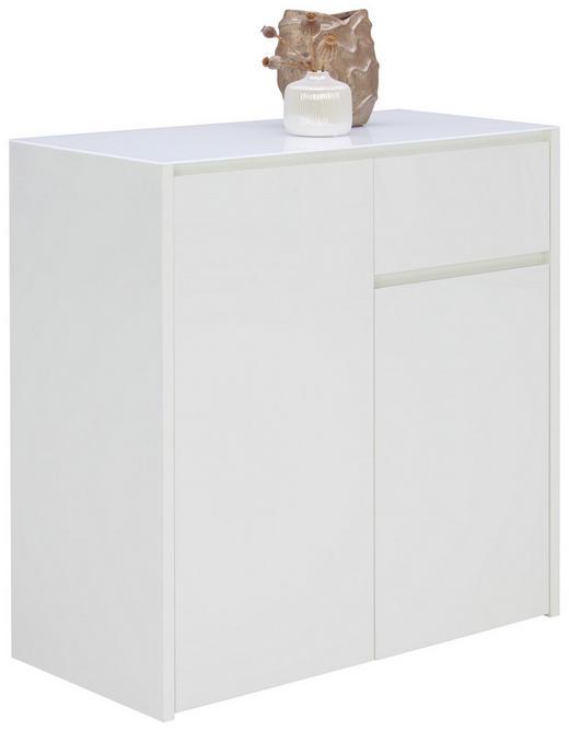 KOMMODE Weiß - Weiß, Design, Glas/Holzwerkstoff (84,2/85,2/40cm) - Voleo