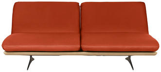 SCHLAFSOFA in Holz, Textil Orange  - Beige/Schwarz, Design, Holz/Textil (204/92/90cm) - Dieter Knoll