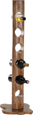 REGÁL NA LÁHVE - přírodní barvy, Trend, dřevo (10/100/10cm) - Ambia Home