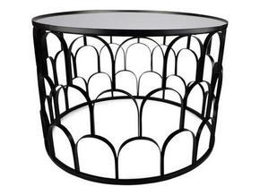 AVLASTNINGSBORD - svart, Design, metall/glas (60/48,5cm)