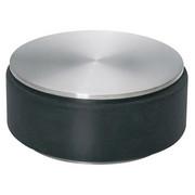 TÜRSTOPPER Kunststoff, Metall - Edelstahlfarben/Schwarz, Basics, Kunststoff/Metall (9cm) - BLOMUS
