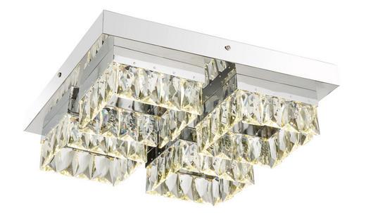 LED-TAKLAMPA - kromfärg, Lifestyle, metall/glas (38/38/11cm)