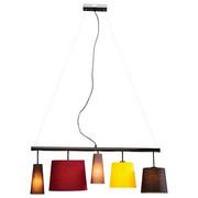 HÄNGELEUCHTE Braun, Gelb, Grau, Rot, Schwarz - Gelb/Rot, Trend, Textil/Metall (107/160/30cm) - Kare-Design