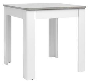 MATBORD - vit/ljusgrå, Design, träbaserade material (80/80/77cm) - Carryhome