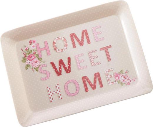 SERVIERTABLETT Kunststoff - Pink/Beige, Basics, Kunststoff (23/31cm) - HOMEWARE