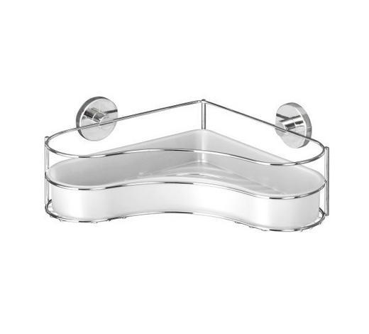 DUSCHKORB - Chromfarben/Weiß, Basics, Kunststoff/Metall (35/24/11,5cm)