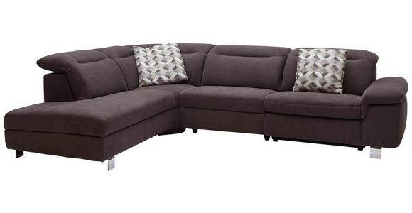 WOHNLANDSCHAFT in Textil Braun - Chromfarben/Braun, Design, Textil/Metall (231/305cm) - Dieter Knoll