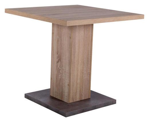 ESSTISCH quadratisch Eichefarben, Grau - Eichefarben/Grau, Design (80/80/75cm) - Carryhome
