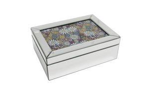 SMYCKESKRIN - klar/silver, Basics, glas/träbaserade material (25,5/18,5/9,5cm) - Ambia Home