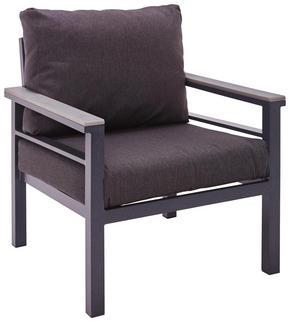 LOUNGEFÅTÖLJ - mörkgrå/grå, Design, metall/textil (67/74/73cm) - Amatio