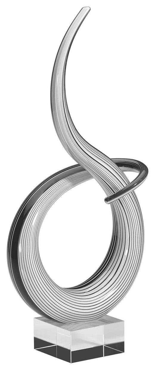SKULPTUR - Schwarz/Weiß, Basics, Glas (17,5/8/42cm)