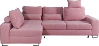 WOHNLANDSCHAFT in Textil Rosa  - Rosa, Design, Textil/Metall (188/260cm) - Hom`in