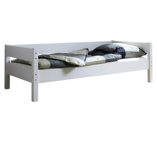 BETT Buche massiv 90/200 cm  - Weiß, KONVENTIONELL, Holz (90/200cm) - Carryhome