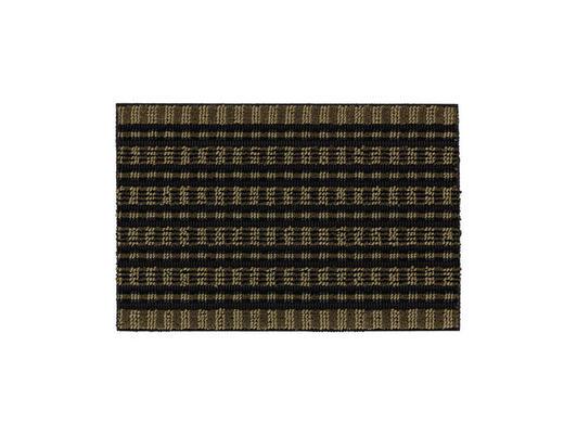 FUßMATTE 50/80 cm - Schwarz/Olivgrün, KONVENTIONELL, Textil (50/80cm) - Schöner Wohnen