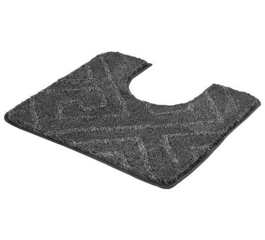 WC-VORLEGER - Schieferfarben, KONVENTIONELL, Kunststoff/Textil (55/50cm) - Kleine Wolke