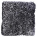 SITZKISSEN - Anthrazit, KONVENTIONELL, Textil/Fell (34/34cm) - Esposa