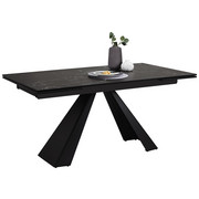 STOL ZA BLAGOVAONICU - crna, Moderno, staklo/metal (160(240) 76 90cm) - Novel