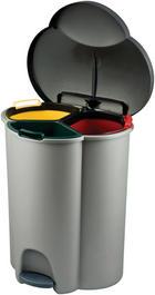 KOŠ ZA OTPAD - zelena/žuta, plastika (59,2/39,4/47,8cm)