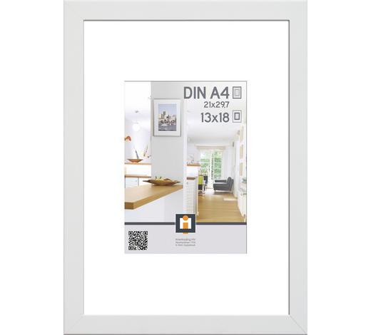 RÁM NA OBRAZY, bílá - bílá, Basics, umělá hmota/sklo (21/30cm)