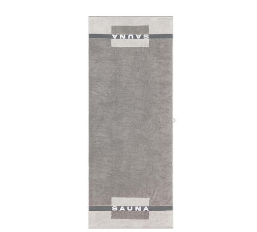 SAUNATUCH 80/200 cm  - Türkis/Graphitfarben, Basics, Textil (80/200cm) - Cawoe
