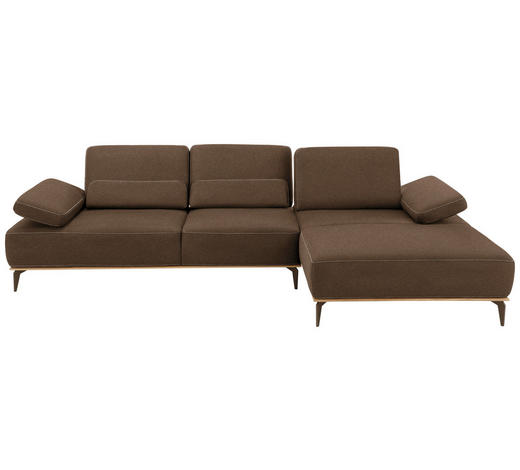 WOHNLANDSCHAFT in Textil Braun  - Beige/Bronzefarben, Natur, Textil/Metall (298/178cm) - Valnatura
