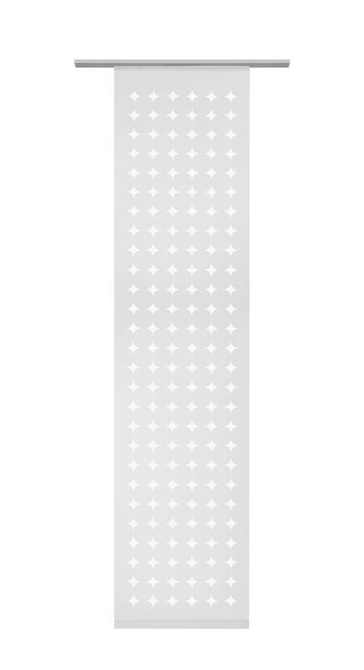 PANEL ZAVJESA - bijela, Konvencionalno, tekstil (60/255cm) - VENDA