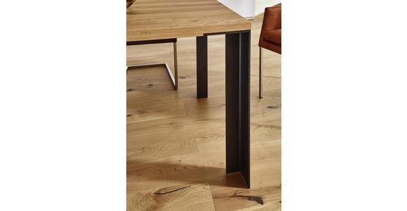 ESSTISCH Asteiche massiv rechteckig Anthrazit, Eichefarben - Eichefarben/Anthrazit, Design, Holz/Metall (180/100/77cm) - Dieter Knoll