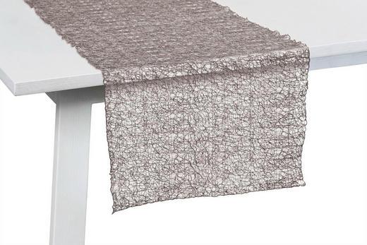 TISCHLÄUFER Textil Taupe 045/140 cm - Taupe, Design, Textil (045/140cm)