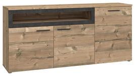 SIDEBOARD 179,6/82,4/41,3 cm  - Fichtefarben/Dunkelgrau, Design, Holzwerkstoff/Kunststoff (179,6/82,4/41,3cm) - Carryhome