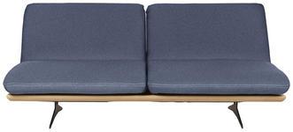 SCHLAFSOFA in Holz, Textil Blau  - Blau/Beige, Design, Holz/Textil (204/92/90cm) - Dieter Knoll