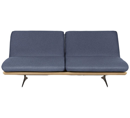 SCHLAFSOFA Blau  - Blau/Beige, Design, Holz/Textil (204/92/90cm) - Livetastic