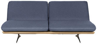 SCHLAFSOFA in Holz, Textil Blau - Blau/Schwarz, Design, Holz/Textil (204/92/90cm) - Dieter Knoll