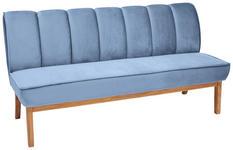 SITZBANK 183/94/82 cm  in Eichefarben, Hellblau  - Eichefarben/Hellblau, Design, Holz/Textil (183/94/82cm) - Carryhome