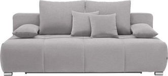 SCHLAFSOFA in Textil Grau - Chromfarben/Grau, Design, Kunststoff/Textil (212/72-90/108cm) - Hom`in