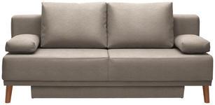 SCHLAFSOFA in Textil Eichefarben, Beige  - Eichefarben/Beige, Design, Holz/Textil (192/92/90cm) - Novel
