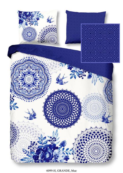 BETTWÄSCHE Satin Blau 155/220 cm - Blau, Textil (155/220cm)