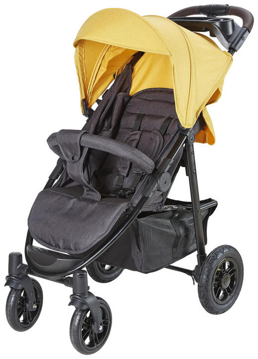 BUGGY  Mind  Currygelb, Grau - Currygelb/Anthrazit, KONVENTIONELL, Textil/Metall (99/58/105cm) - Jimmylee