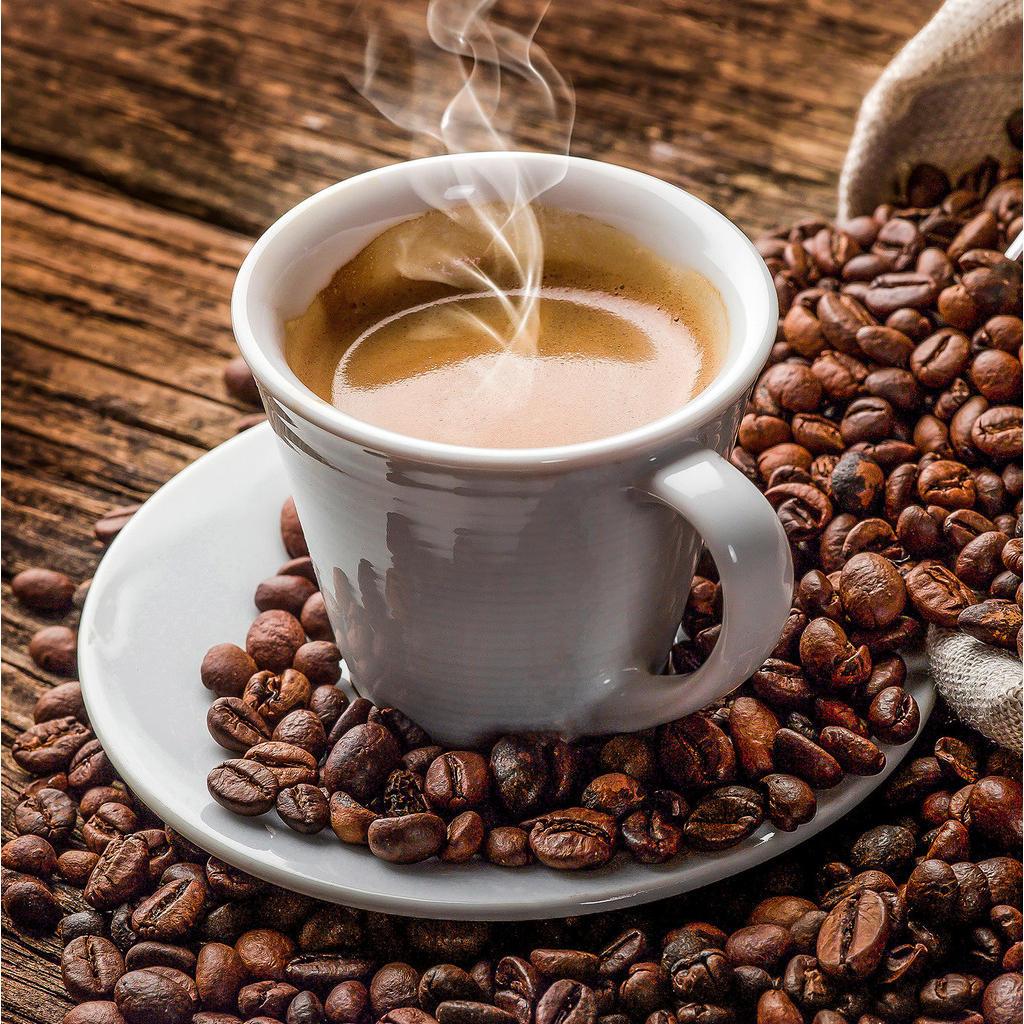 Monee Glasbild kaffee