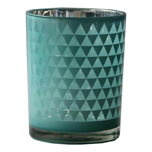 TEELICHTGLAS - Hellblau, Design, Glas (10/12,5cm) - Ambia Home