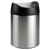 TISCHABFALLSAMMLER - Edelstahlfarben/Schwarz, Basics, Kunststoff/Metall (12/12/18,5cm) - Justinus