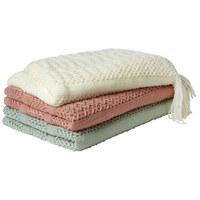 DECKE 130/170 cm - Rosa/Weiß, Trend, Textil (130/170cm)