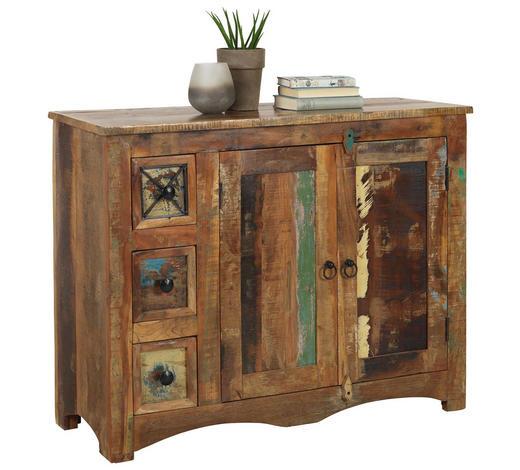 KOMODA, recyklované dřevo, vícebarevná - vícebarevná/hnědá, Lifestyle, kov/dřevo (110/85/40cm) - Landscape