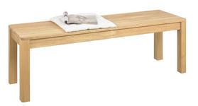 SITZBANK Wildeiche massiv Eichefarben - Eichefarben, Design, Holz (140/47/42cm) - Linea Natura