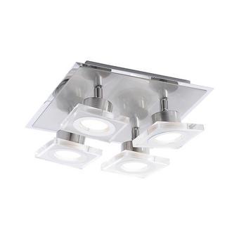 LED SVJETILJKA STROPNA - boje oplemenjenog čelika, Moderno, metal/plastika (25/25/11cm)