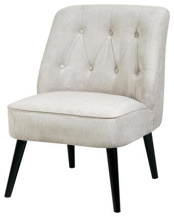 FOTELJ  siva tekstil - črna/siva, Design, tekstil/les (77/73/84cm) - Venda