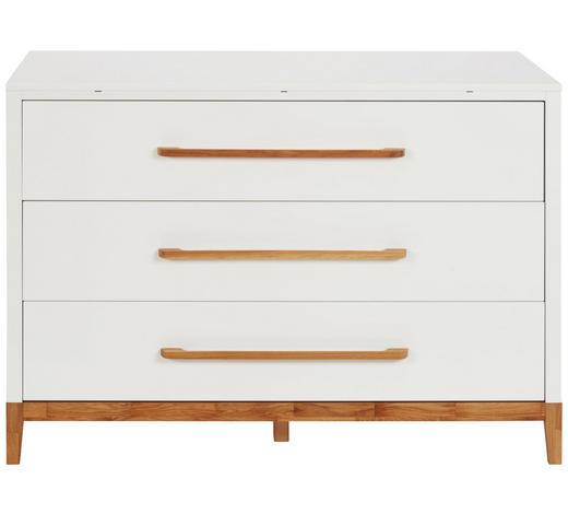 WICKELKOMMODE Scandic Eiche Weiß, Eichefarben  - Eichefarben/Weiß, Design, Holz/Holzwerkstoff (135/92/47cm) - Jimmylee