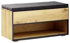 GARDEROBENBANK 85/45/38 cm  - Eichefarben/Anthrazit, Natur, Holz/Holzwerkstoff (85/45/38cm) - Linea Natura