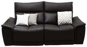 2-SITS SOFFA - mörkbrun, Klassisk, läder (190/102/100cm) - Celina Home