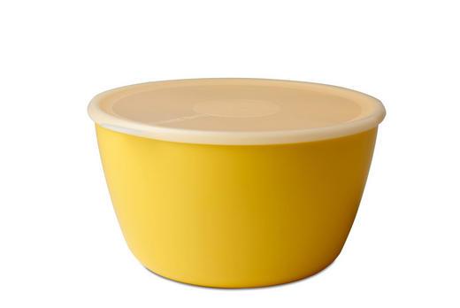 SCHALE Kunststoff - Klar/Gelb, Design, Kunststoff (25/23,3/13,2cm) - Mepal Rosti