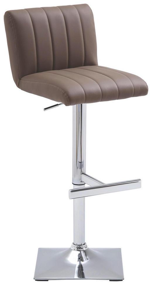 BARHOCKER Lederlook Braun - Braun, Design, Textil/Metall (41/90-112/50cm) - Carryhome
